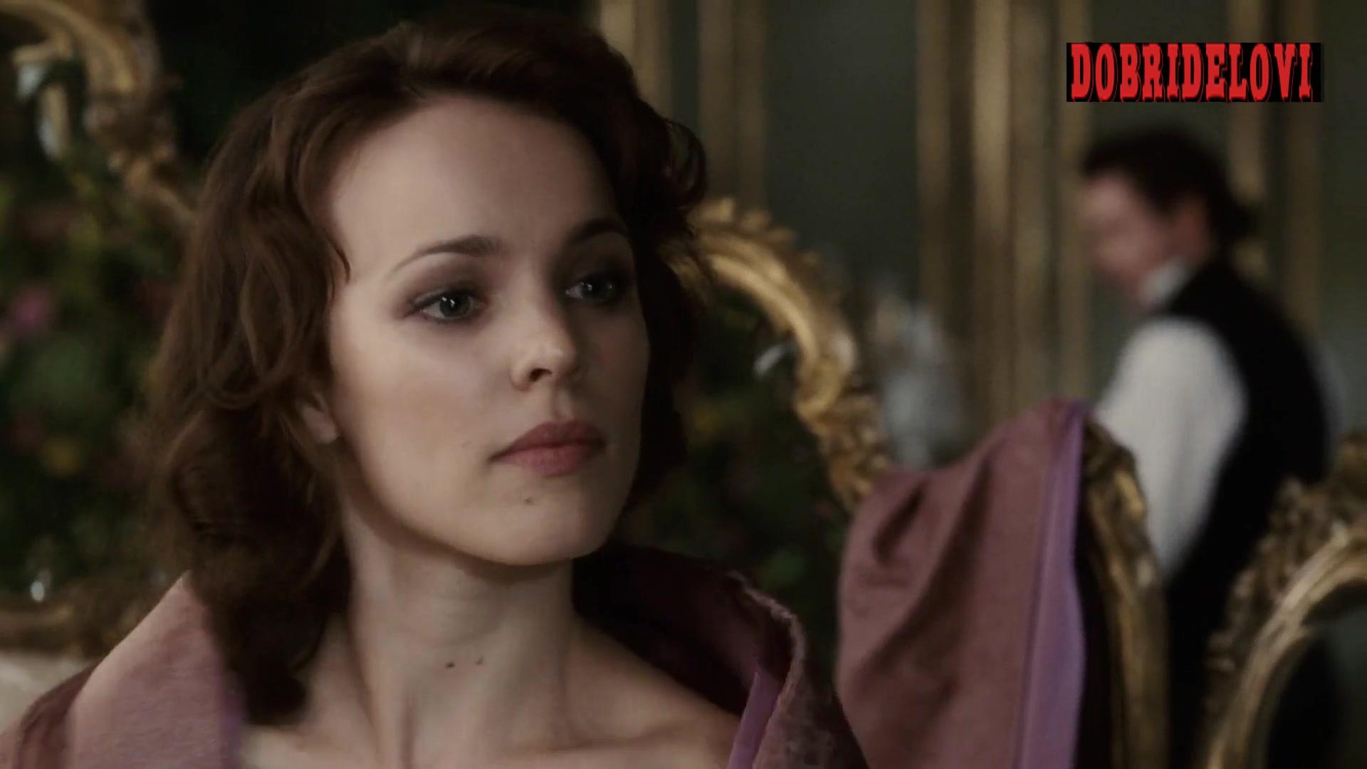 Rachel McAdams with exposed back scene from Sherlock Holmes