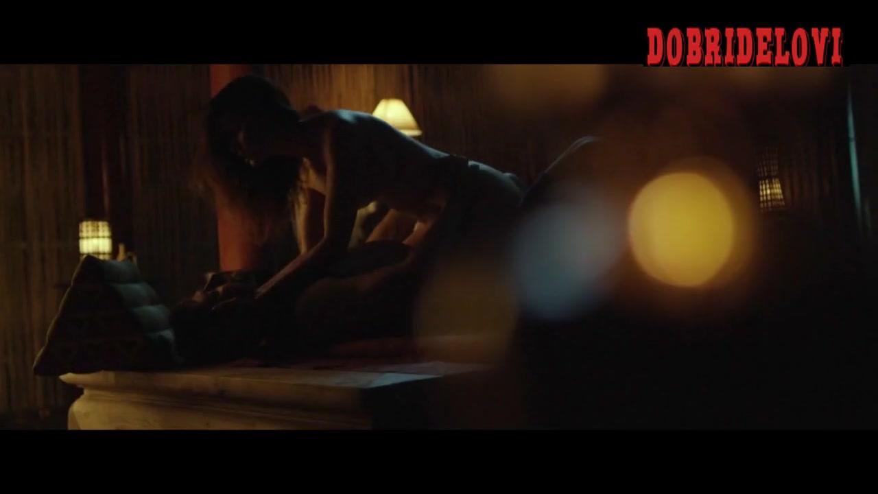 Sara Malakul Lane cowgirl scene from Kickboxer: Vengeance