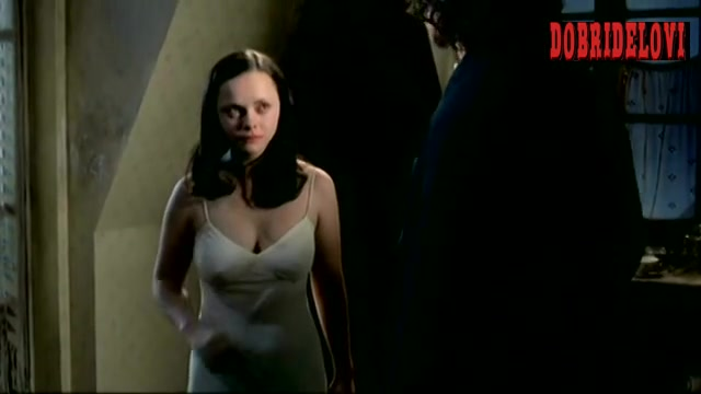 Christina Ricci nipples through nighty scene from The Man Who Cried