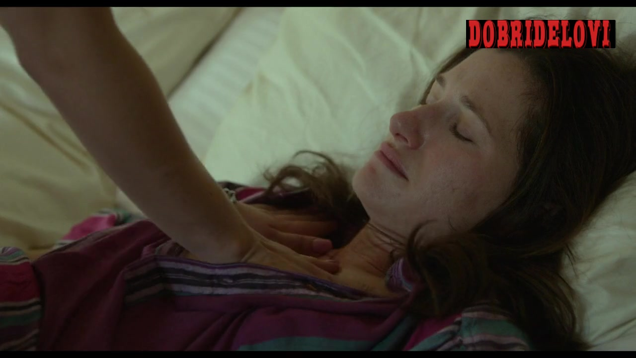 Juno Temple rubbing Kathryn Hahn's chest scene from Afternoon Delight