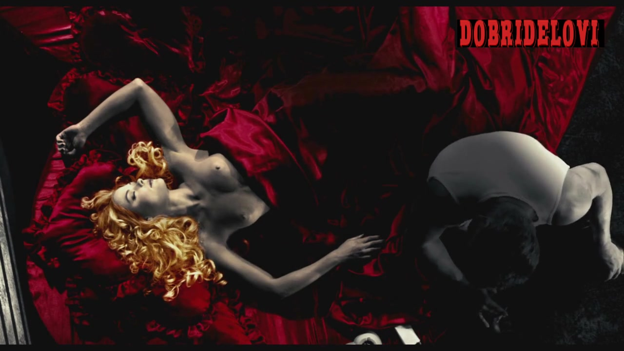 Jaime King heart-shaped bed scene from Sin City