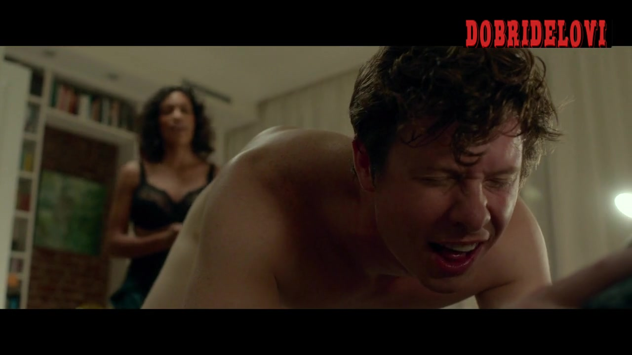 Rosario Dawson puts tampon in anders Holm butt scene from Top Five