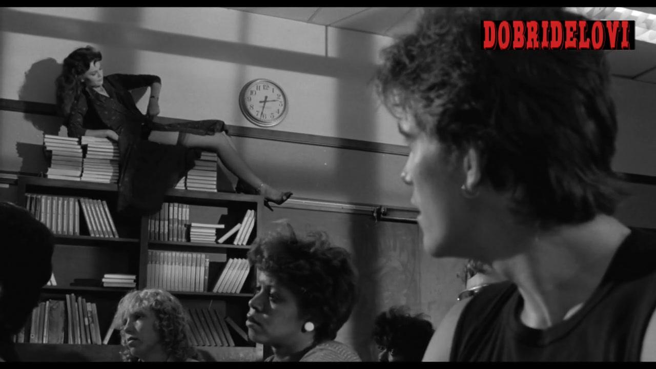 Diane Lane distracting classroom scene from Rumble Fish