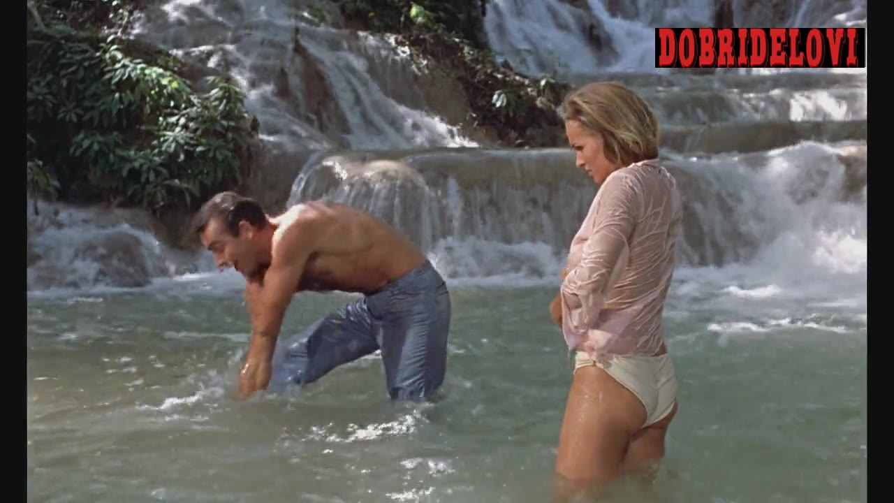 Ursula Andress wet shirt scene from Dr. No