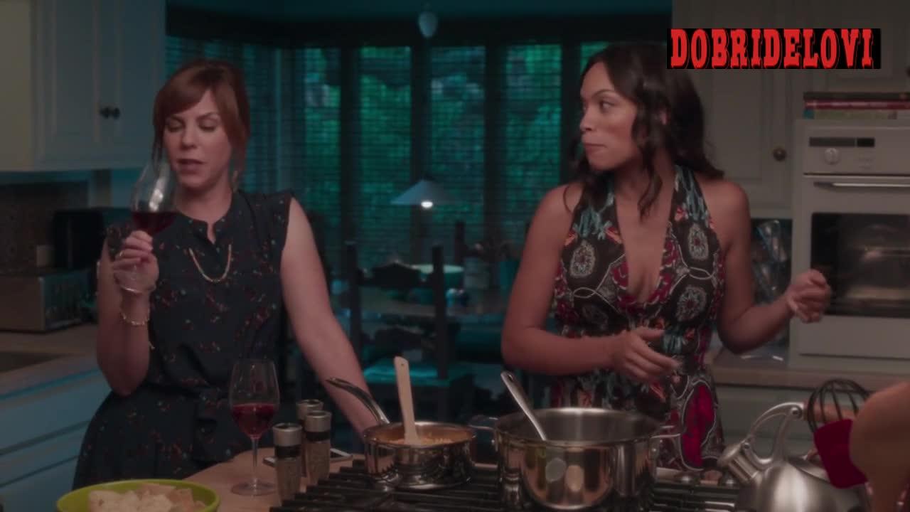 Rosario Dawson dinner party scene from Unforgettable