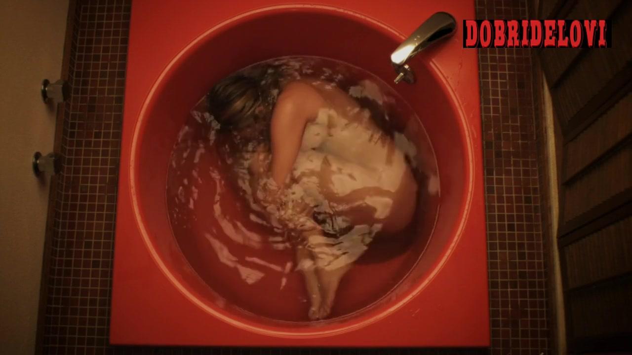Chloë Sevigny fetal position in bath scene from The Wait