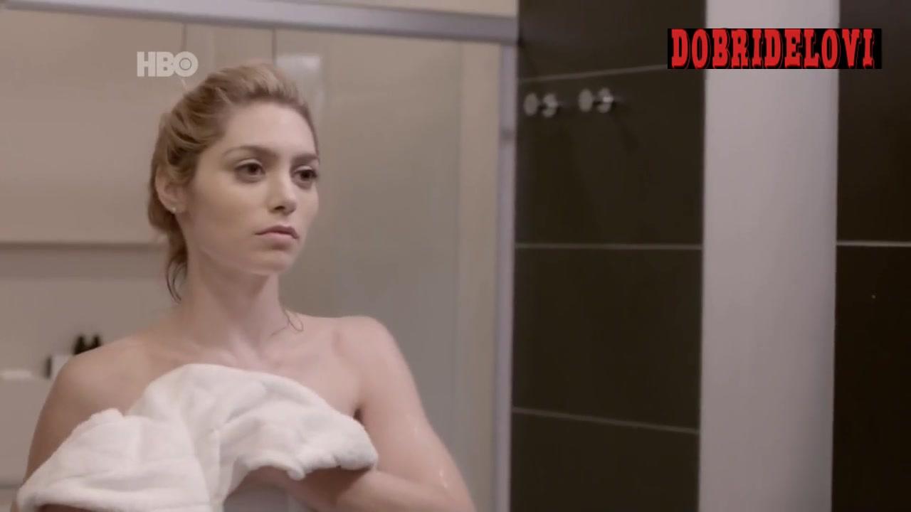 Juliana Schalch shower scene from O Negócio