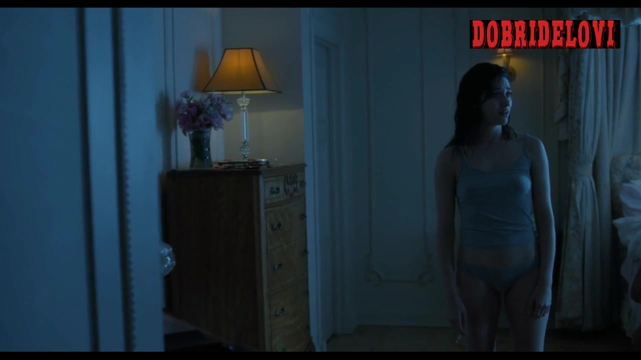 Emmy Rossum wearing grey panties scene from Comet