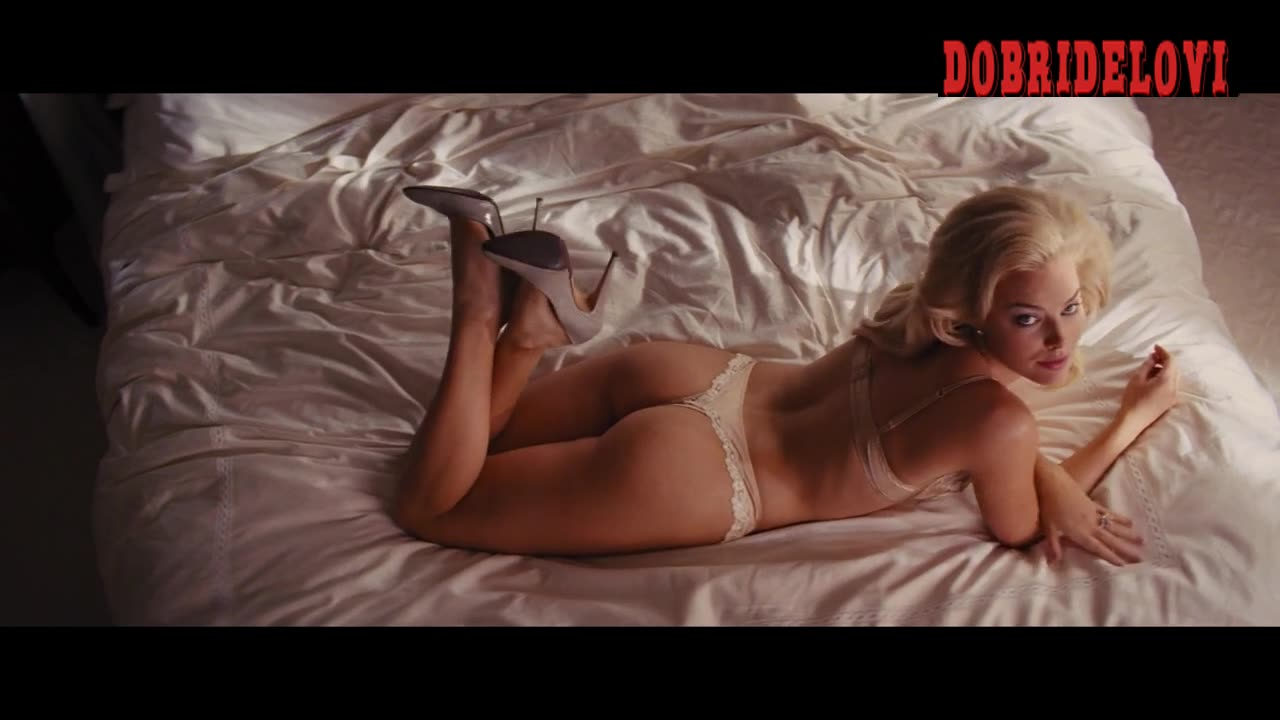 Watch Margot Robbie sexy scene from The Wolf of Wall Street video
