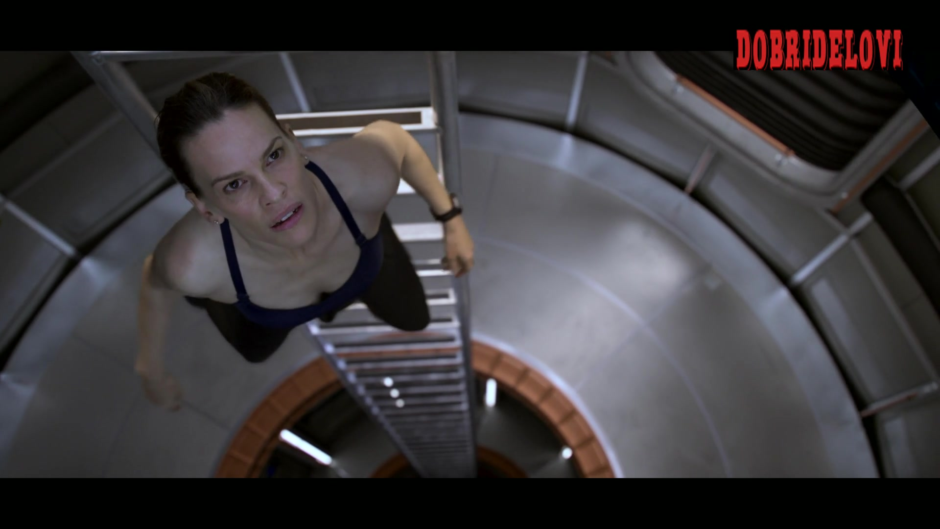 Hilary Swank floating in spaceship scene from Away