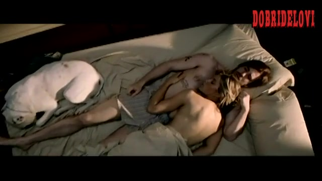 Jessica Biel laying in bed scene from London