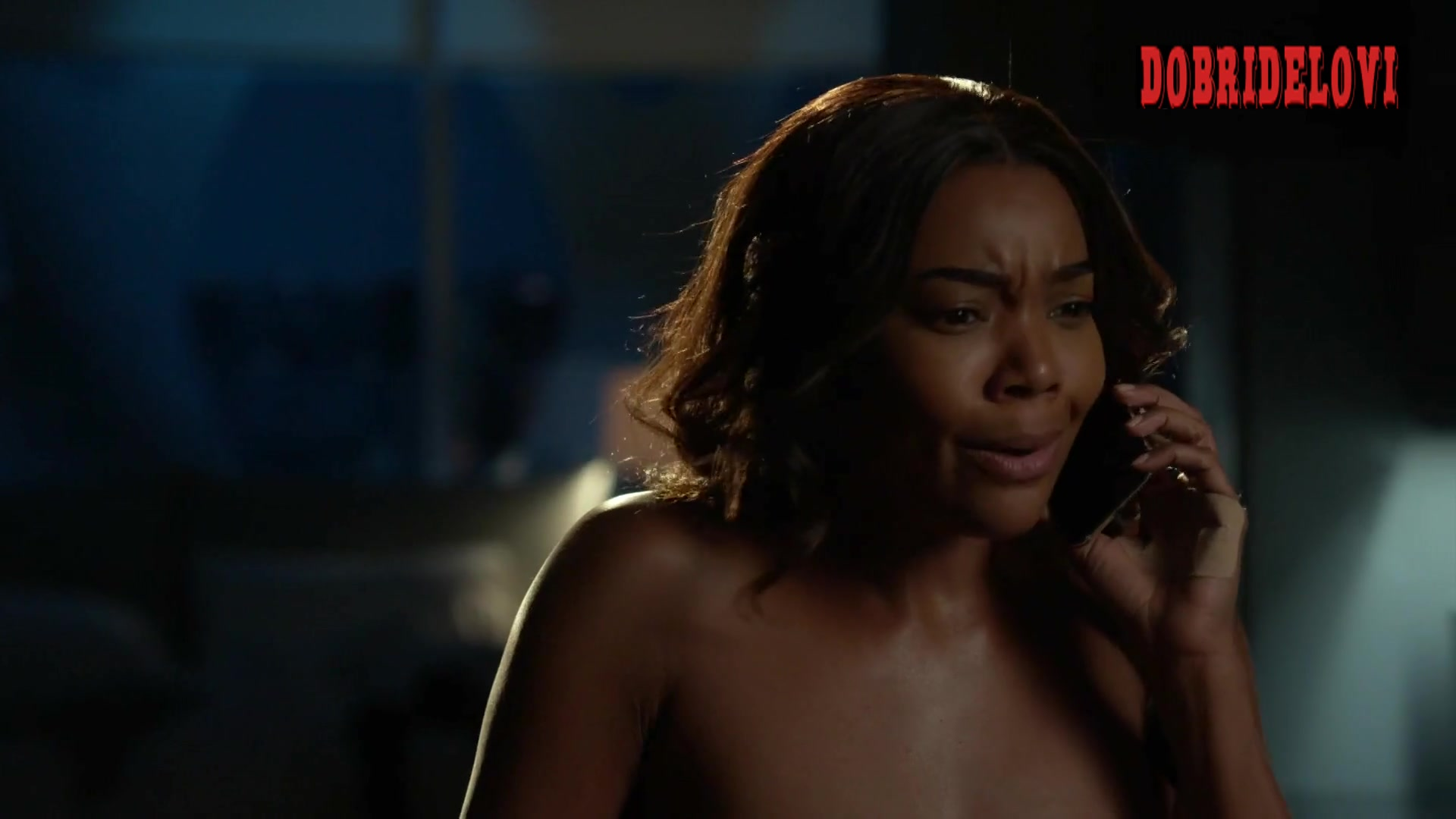 Gabrielle Union woman sex on top scene from L.A.'s Finest