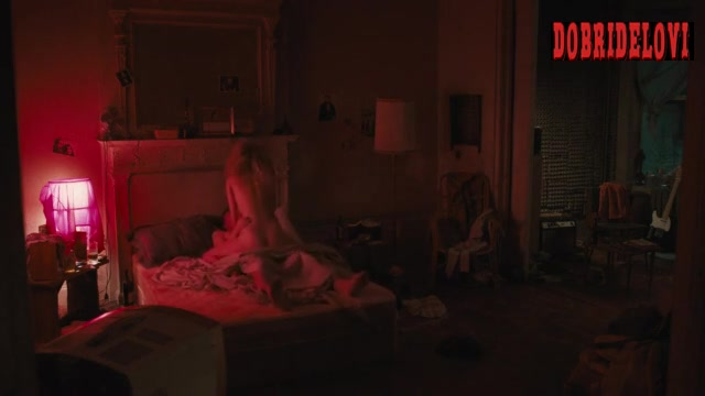 Juno Temple riding James Jagger in bed scene from Vinyl