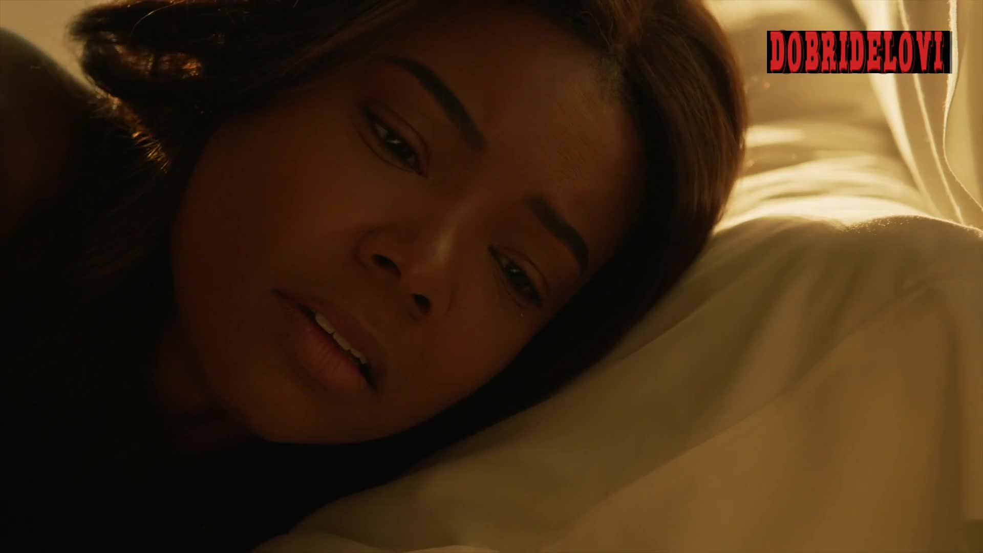 Gabrielle Union getting out of bed scene from L.A.'s Finest