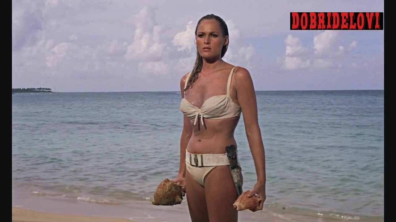 Ursula Andress beach scene from Dr. No