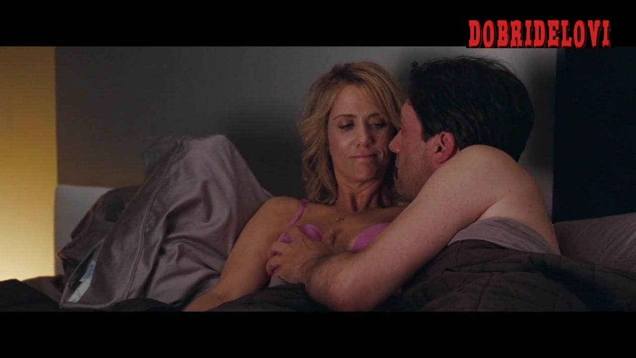 Kristen Wiig breast fondling in bed scene from Bridesmaids