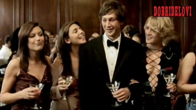Chloë Sevigny drinking martini at party scene from Death of a Dynasty