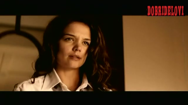 Katie Holmes on top of Aaron Eckhart scene from Thank You for Smoking