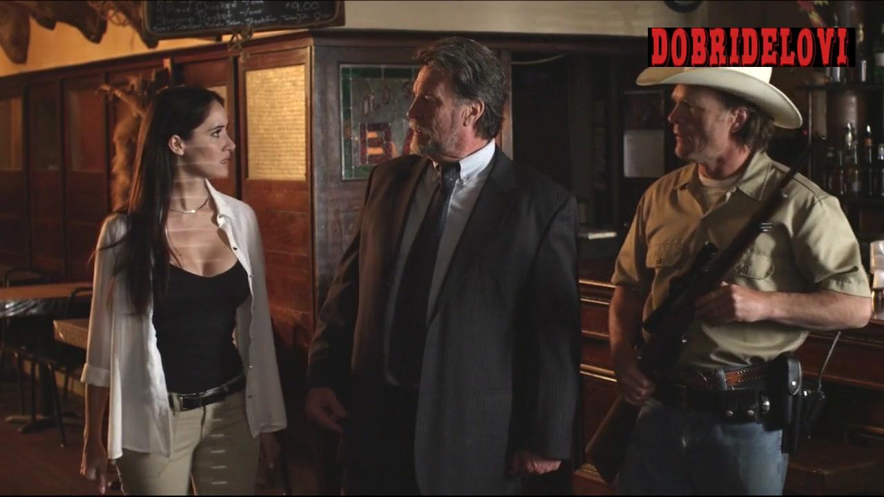Sara Malakul Lane displaying big breasts scene from Cowboys vs. Dinosaurs