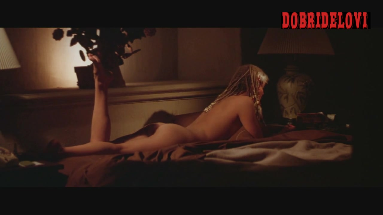 Bo Derek smoking cigarette nude in bed scene from 10