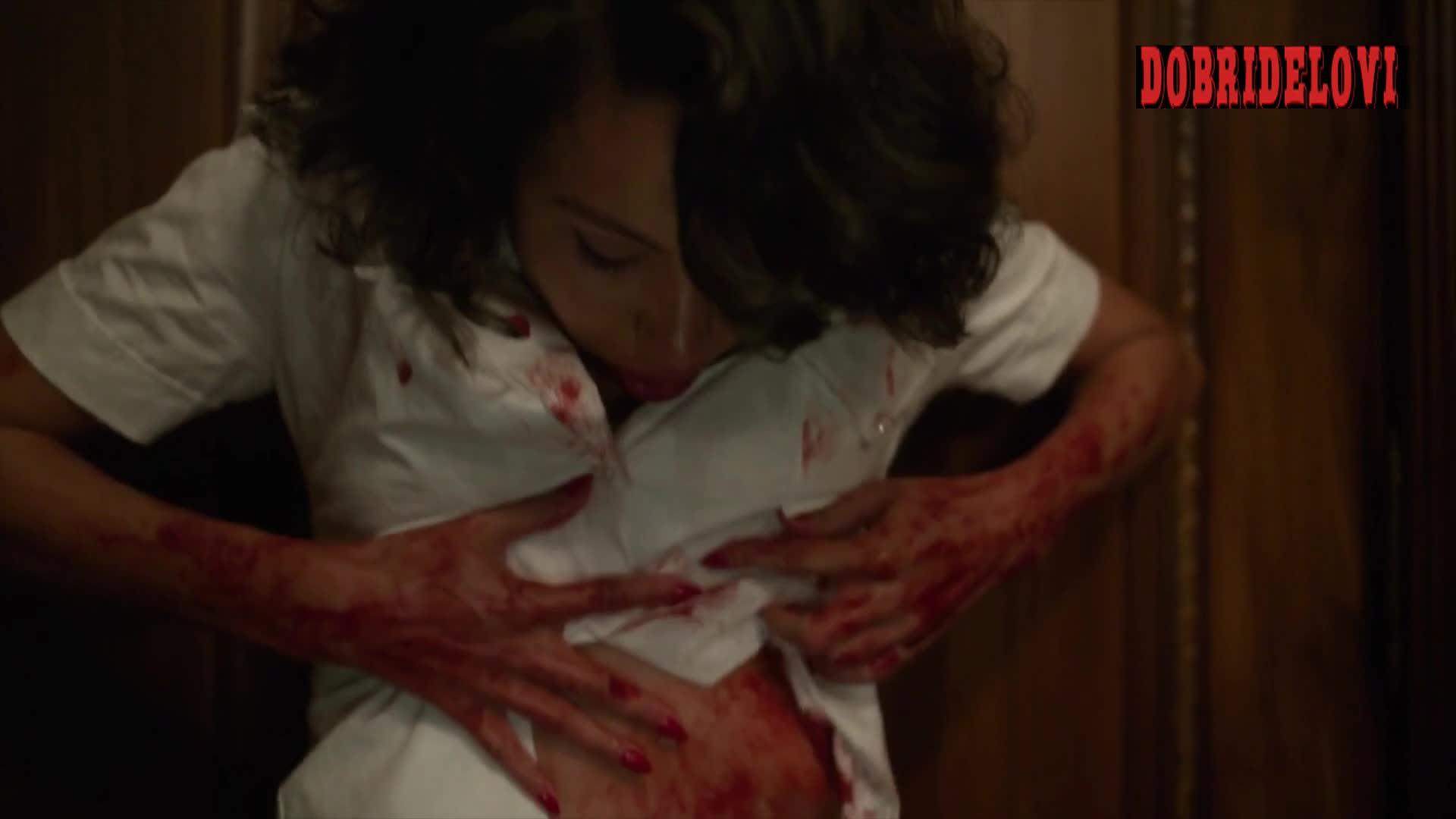 Jurnee Smollett undressing scene from Lovecraft Country