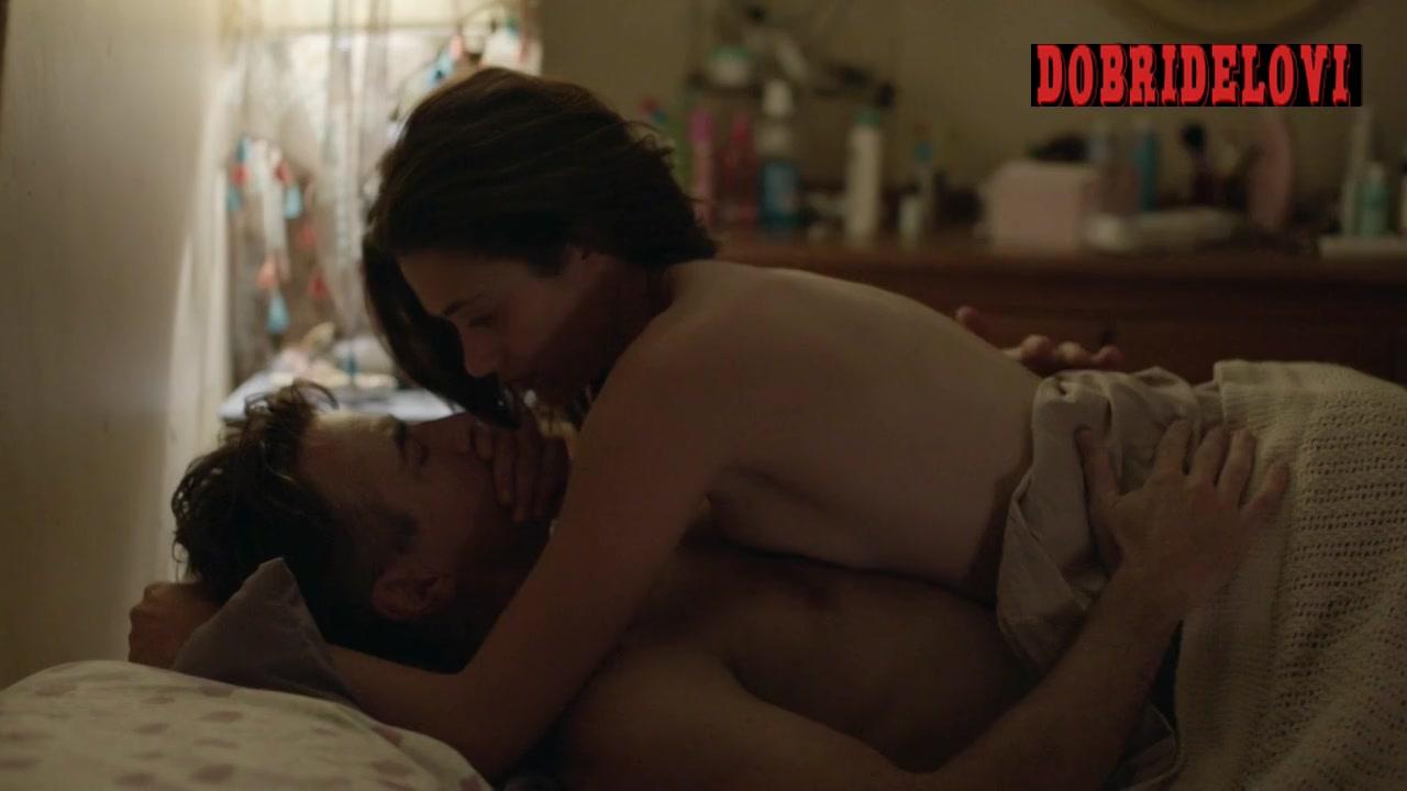 Emmy Rossum cowgirl sex with Dermot Mulroney scene from Shameless