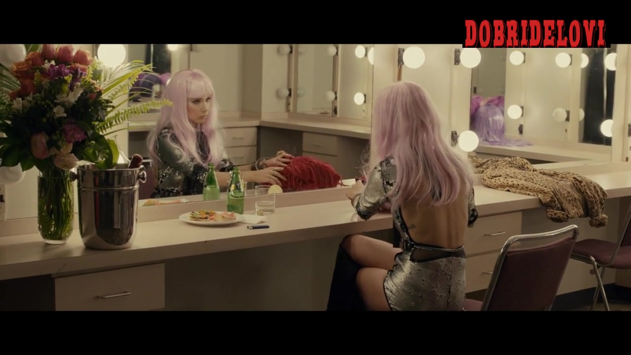 Juno Temple stripper outfit scene from Len and Company