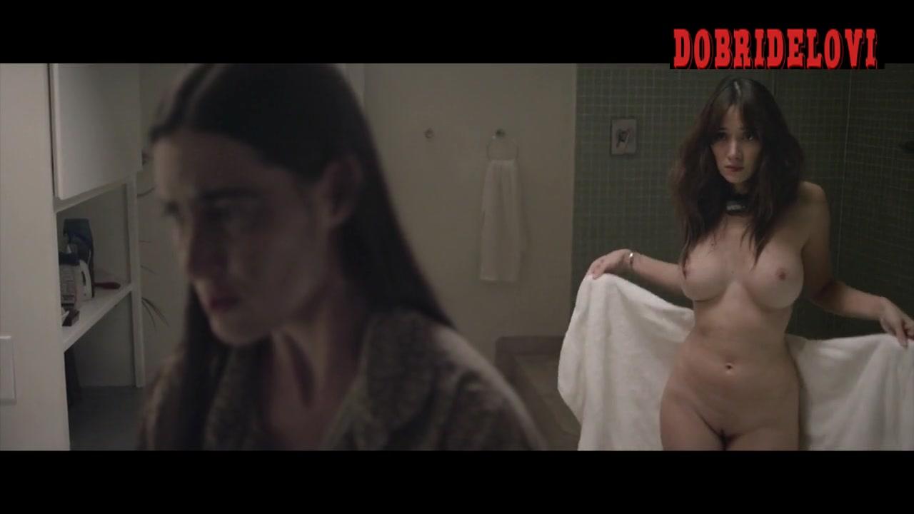 Sara Malakul Lane drops the towel for Sarah Hagan  scene from Sun Choke