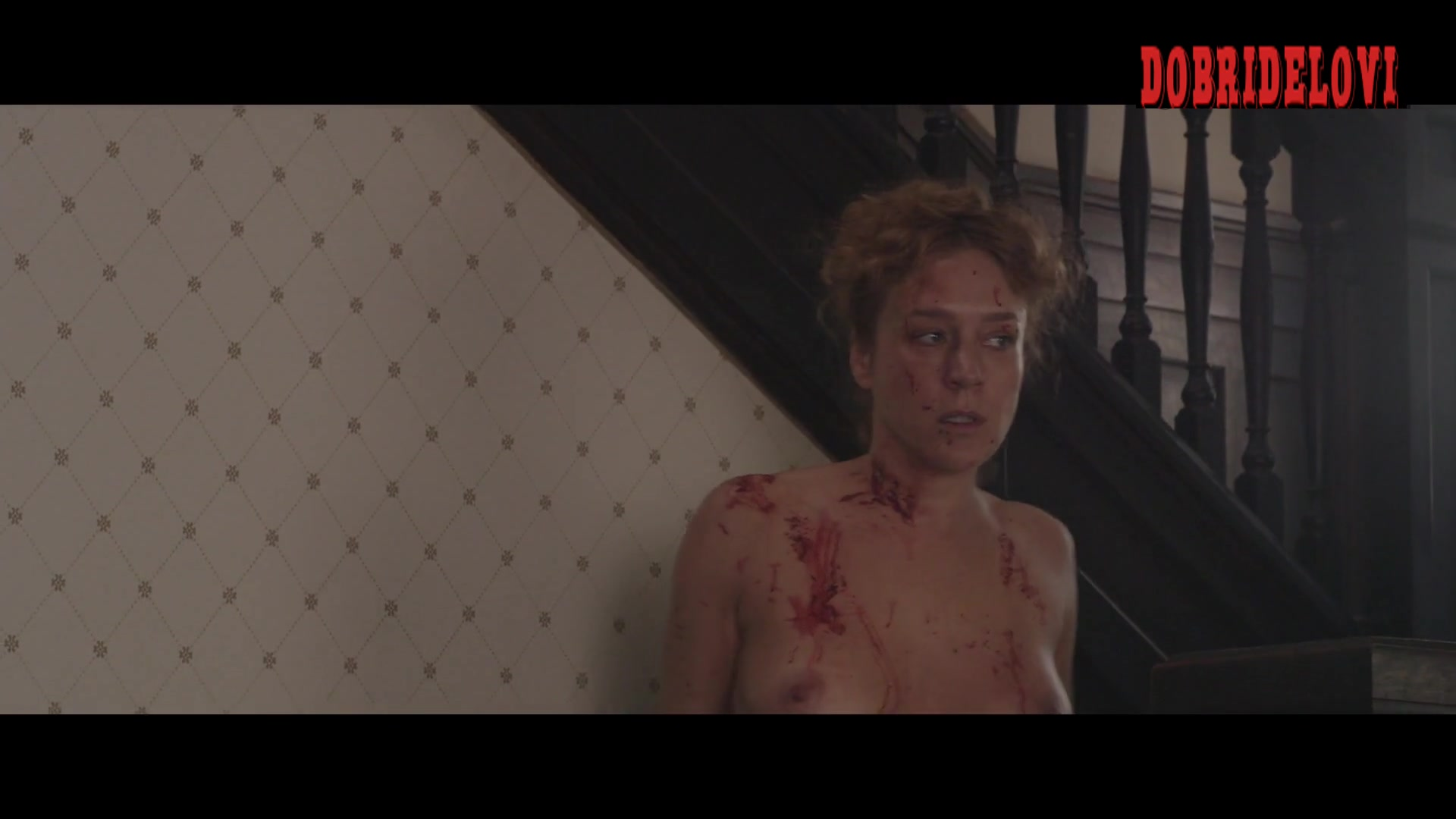Chloë Sevigny topless and bloody scene from Lizzie