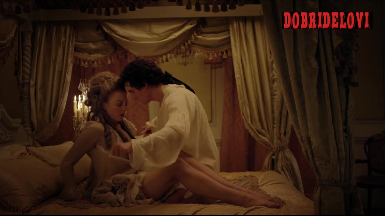 Natalie Dormer undressed in bed scene from The Scandalous Lady W