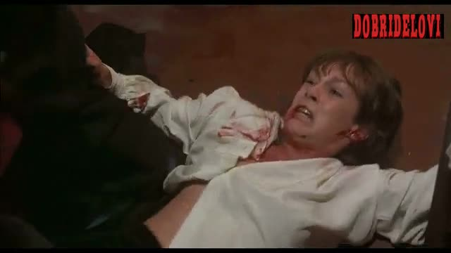 Jamie Lee Curtis bloody body scene from Terror Train