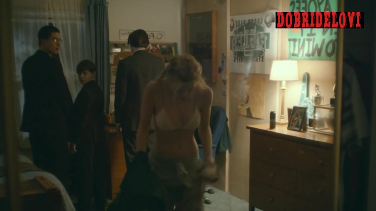 Bella Thorne taking off clothes scene from Shovel Buddies
