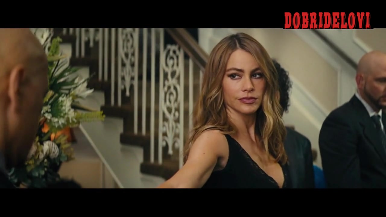 Sofia Vergara party dress scene from Hot Pursuit