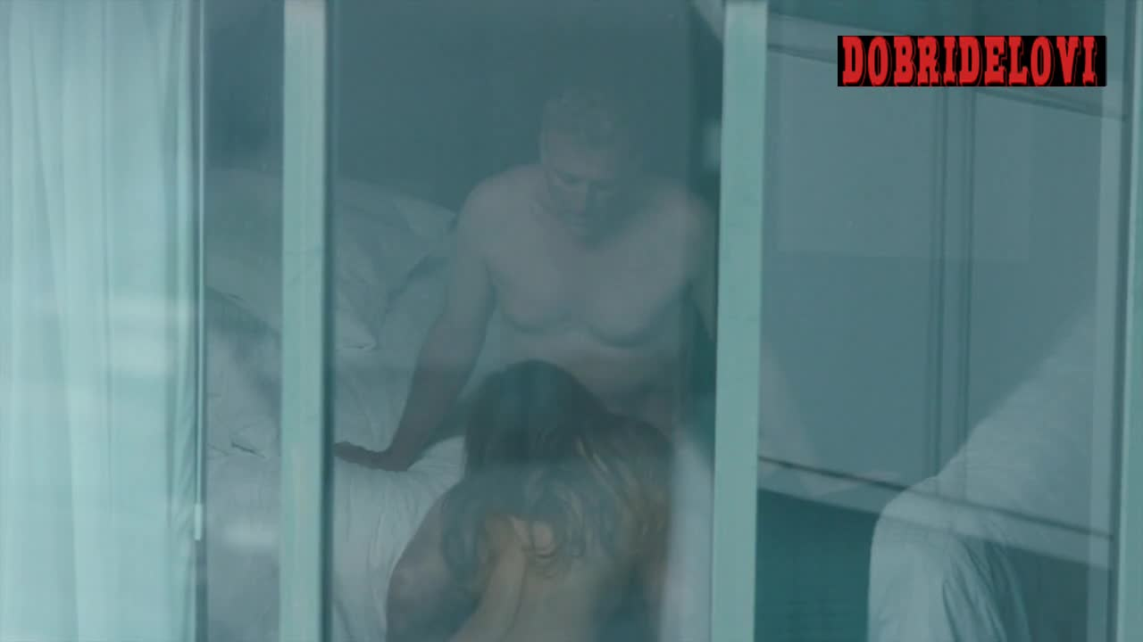 Riley Keough blows dude with voyeur taking pictures scene from The Girlfriend Experience