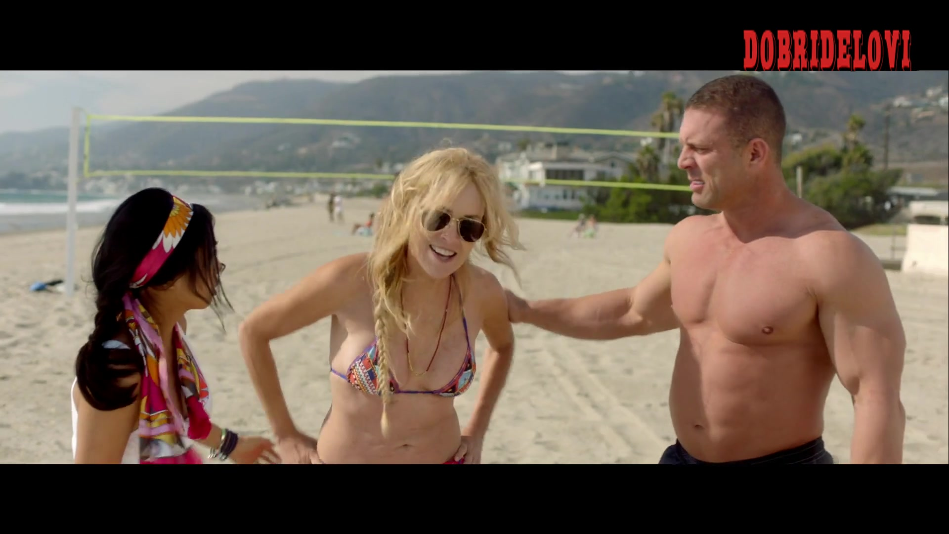 Sharon Stone and Caitlin Fitzgerald beach volley scene from All I Wish
