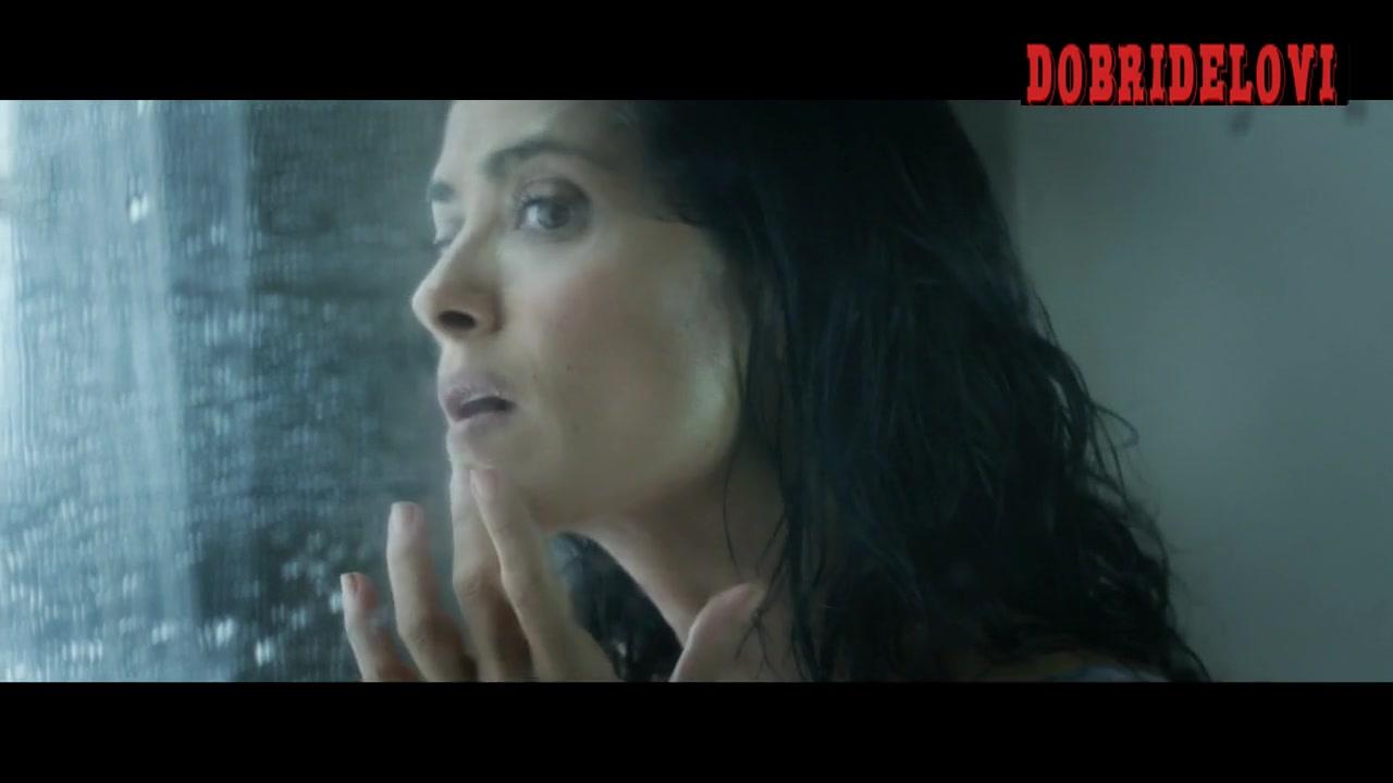 Salma Hayek shower scene from Everly