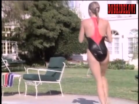 Erika Eleniak getting out of pool scene from Baywatch