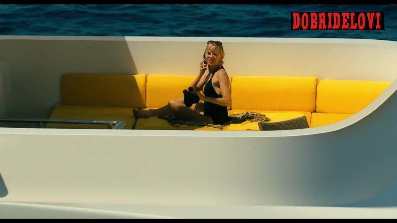 Naomi Watts sexy on boat peeped through telescope scene from Diana