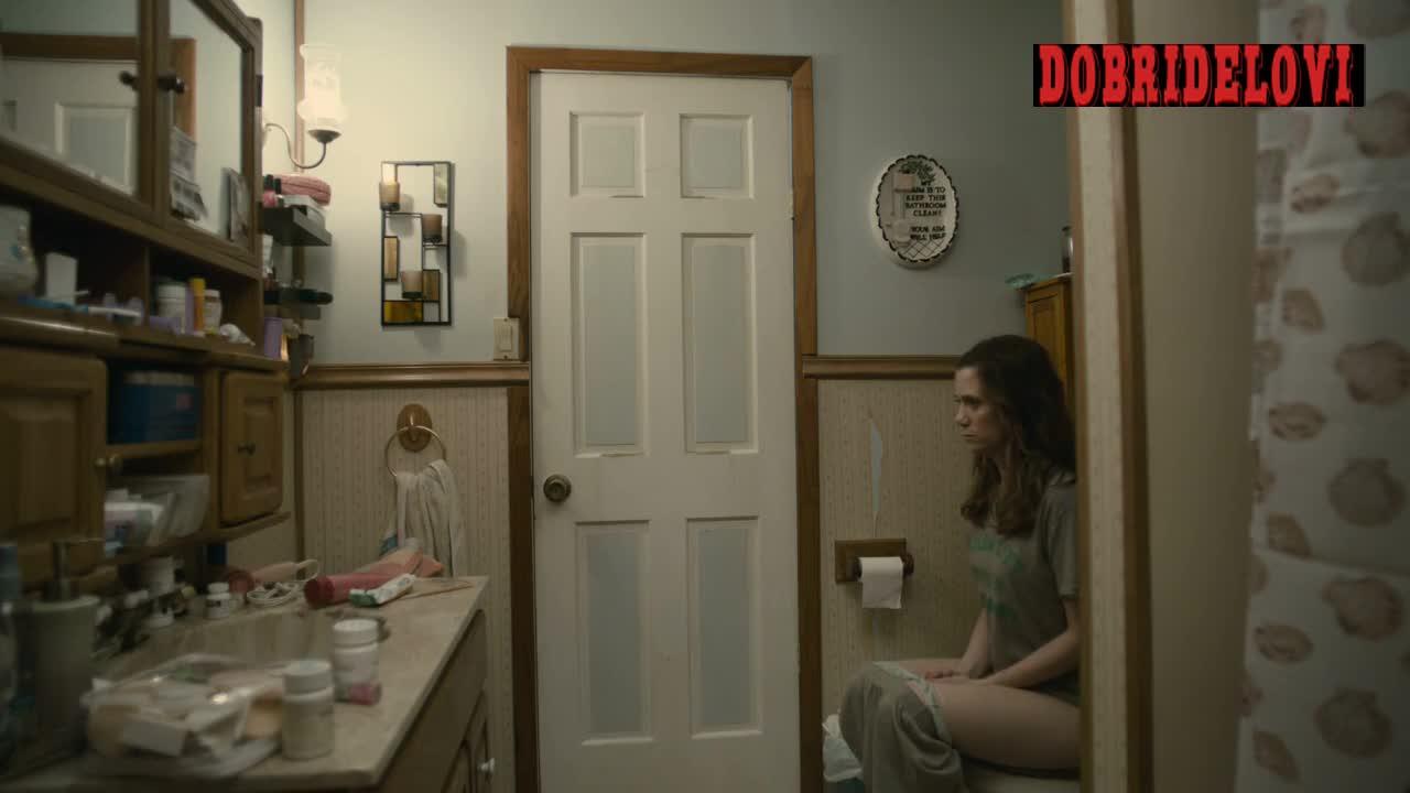 Kristen Wiig peeing and slaming door scene from Girl Most Likely