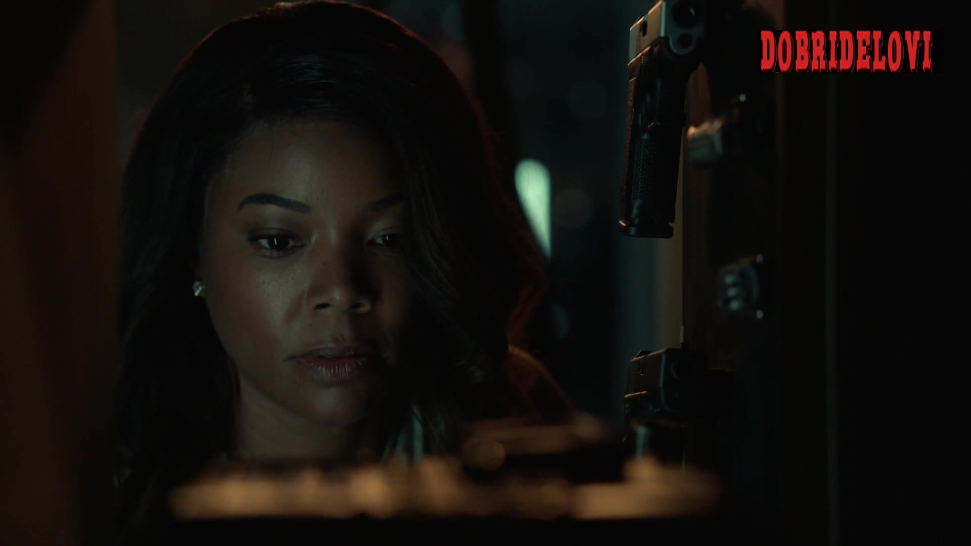 Gabrielle Union side boob scene from L.A.'s Finest