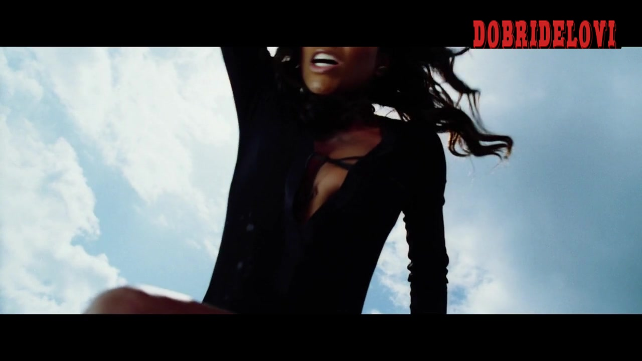 Gabrielle Union slow motion nip slip scene from Bad Boys II
