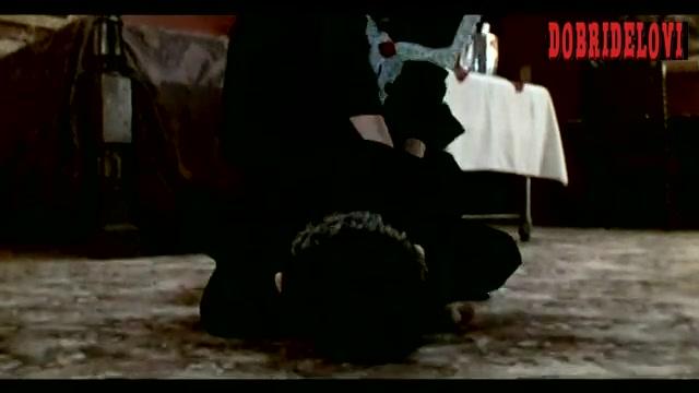 Salma Hayek dancing with leopard bikini on the Tv scene from Four Rooms