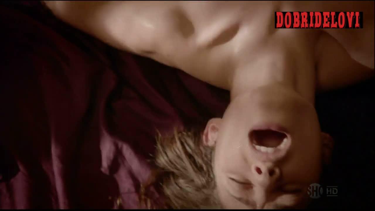 Emmy Rossum getting oral sex scene from Shameless