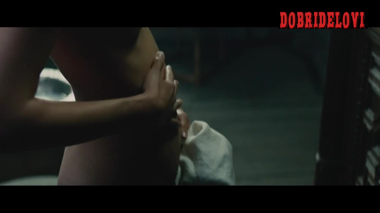 Alicia Vikander changing clothes close-up scene from Tulip Fever