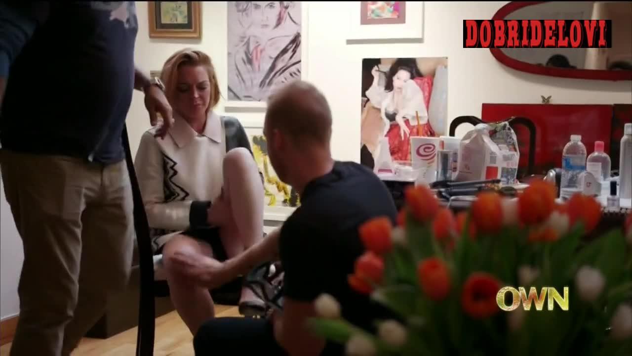 Lindsay Lohan changing in dressing room scene from Lindsay