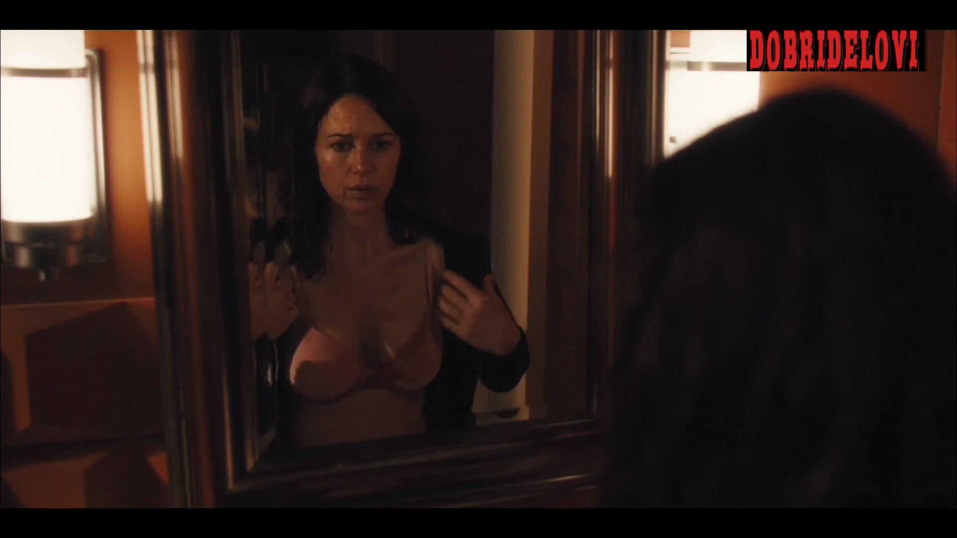 Carla Gugino bathroom scene from Jett