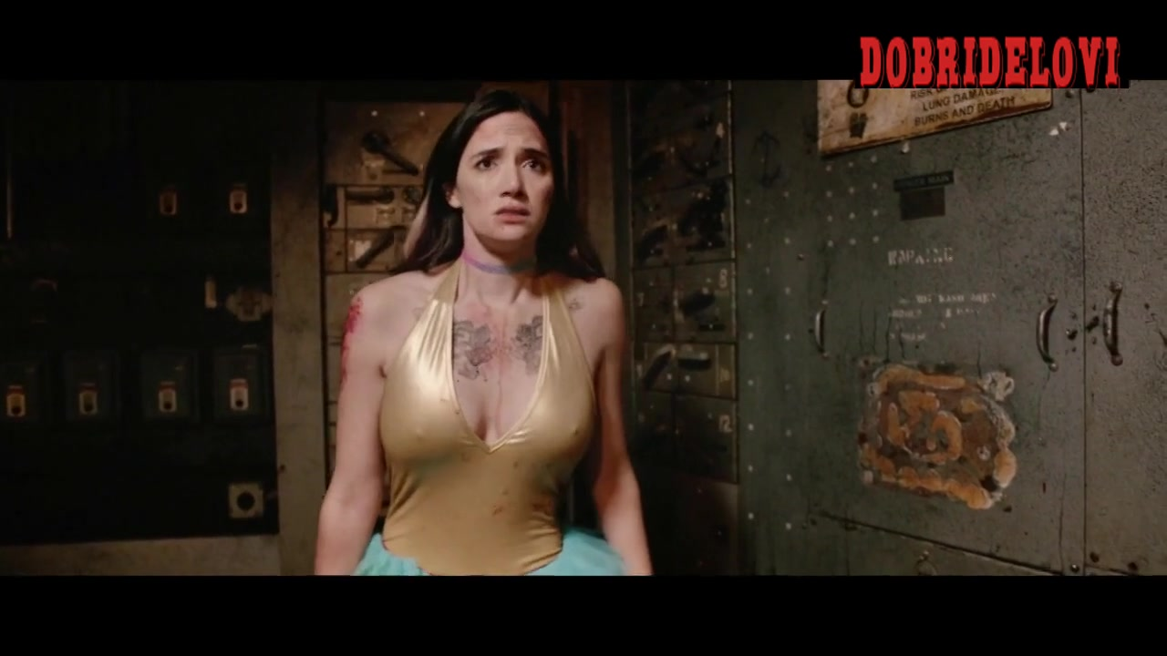 Sara Malakul Lane top ripped off in warehouse scene from Halloween Pussy Trap Kill! Kill!