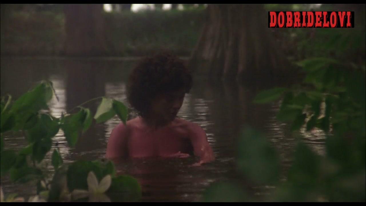 Adrienne Barbeau lake scene from Swamp Thing