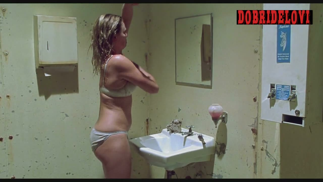Charlize Theron washing herself scene from Monster