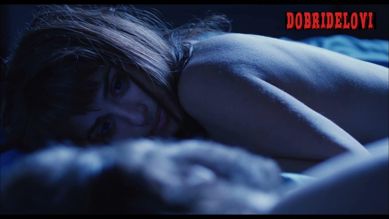 Penélope Cruz lying in bed nude scene from Twice Born